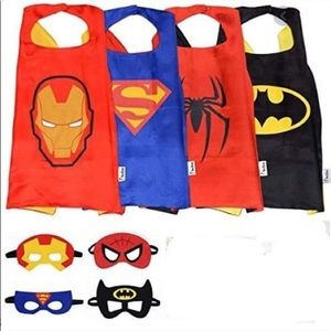 Super Kiddos Superhero Cape and Mask Costumes